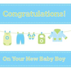 Christian New Baby Boy Card