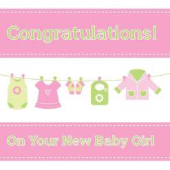 Christian New Baby Girl Card