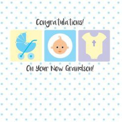 Christian New Grandson Card