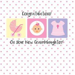 Christian New Granddaughter Card