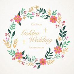 Christian Golden Anniversary Card