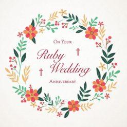 Christian Ruby Anniversary Card