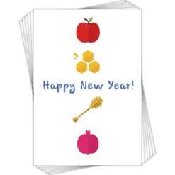 Jewish New Year Cards (6 pack)